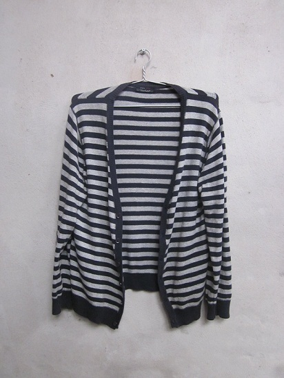 striped cardigan_the color harmony