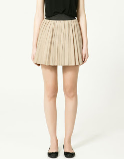 beige printed flared skirt; beige skirt